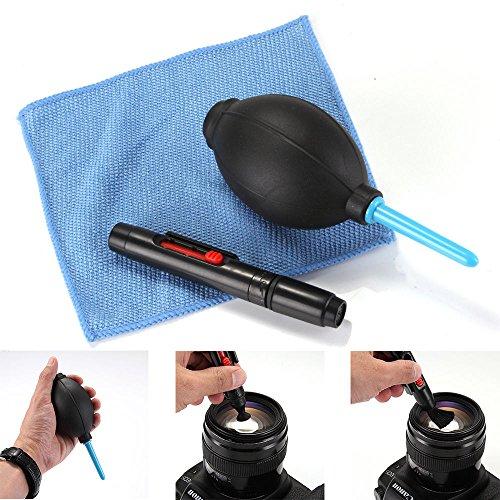 3 in 1 Lens Cleaning Tool Kit Air Blower Cloth Duster Pen Brush Camera Lenspen