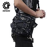 Search : Steampunk Gothic Mini Waist Bag Women Leather Motorcycle Leg Crossbody Bag