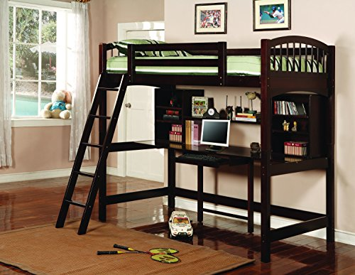 Coaster Furniture 460063 Transitional Bunk Bed, Cappuccino