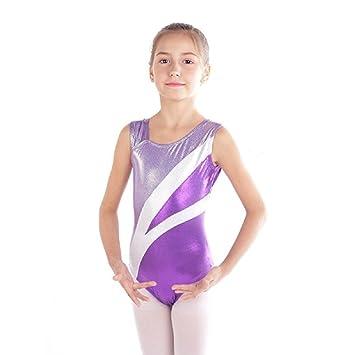 Sinoem Justaucorps de Gymnastique Fille Justaucorps Danse sans Manches  Leotard Danse Ballet pour Enfant 2- db2c2e33400