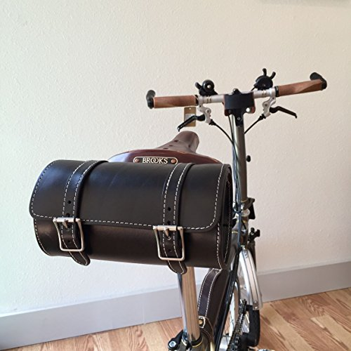 Genuine Cowhide Retro Bicycle Handle Bar or Saddle Bag
