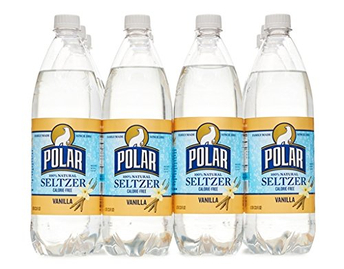 Polar Seltzer 33.8 Fl. Oz, (Pack of 12) (Vanilla) made in Massachusetts