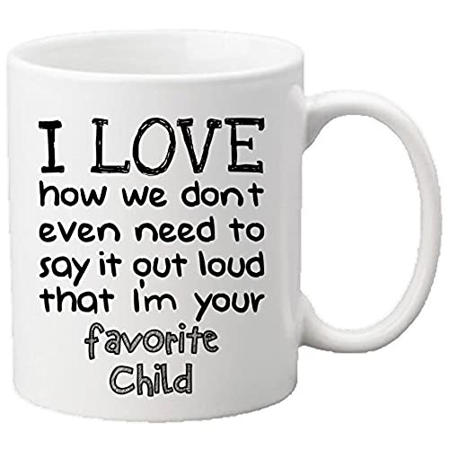 muggies favorite child 11oz funny ceramic mug unique gift for mom dad mothers day fathers day christmas birthday get this to your parents it