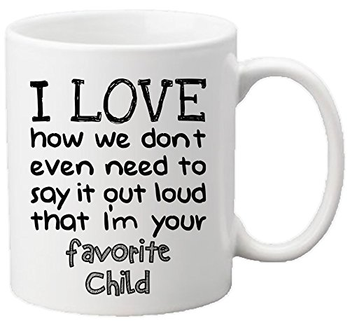Muggies Favorite Child 11oz Funny Ceramic Mug - Unique Gift For Mom, Dad, Mother's Day, Father's Day, Christmas, Birthday. Get This To Your Parents - It Would Be Their New Favorite Coffee/Tea Mug