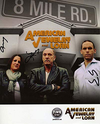 Hardcore Pawn TV Show Cast Autographed Signed 8x10 Photo Authentic COA By Les Gold, Seth Gold and Ashley Broad