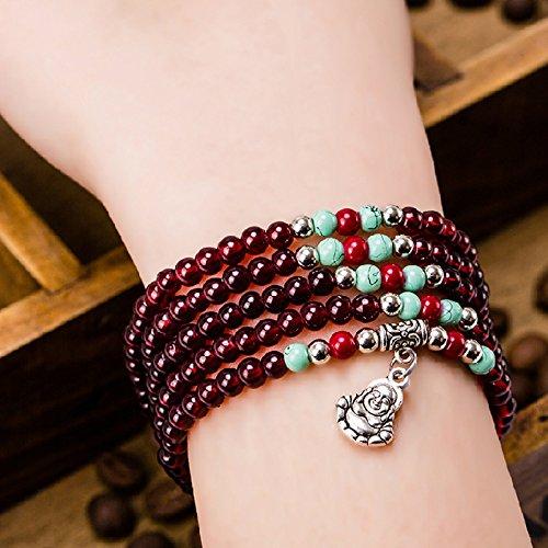 Rosary imitation jewelry garnet crystal multilayer fashion fish wooden beads bracelets bracelet 24