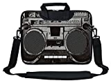 Meffort Inc Neoprene Laptop Shoulder Briefcase Bag Carry Case Handbag For 11.6 12 inch Macbook Notebook Computer - Cassette Player