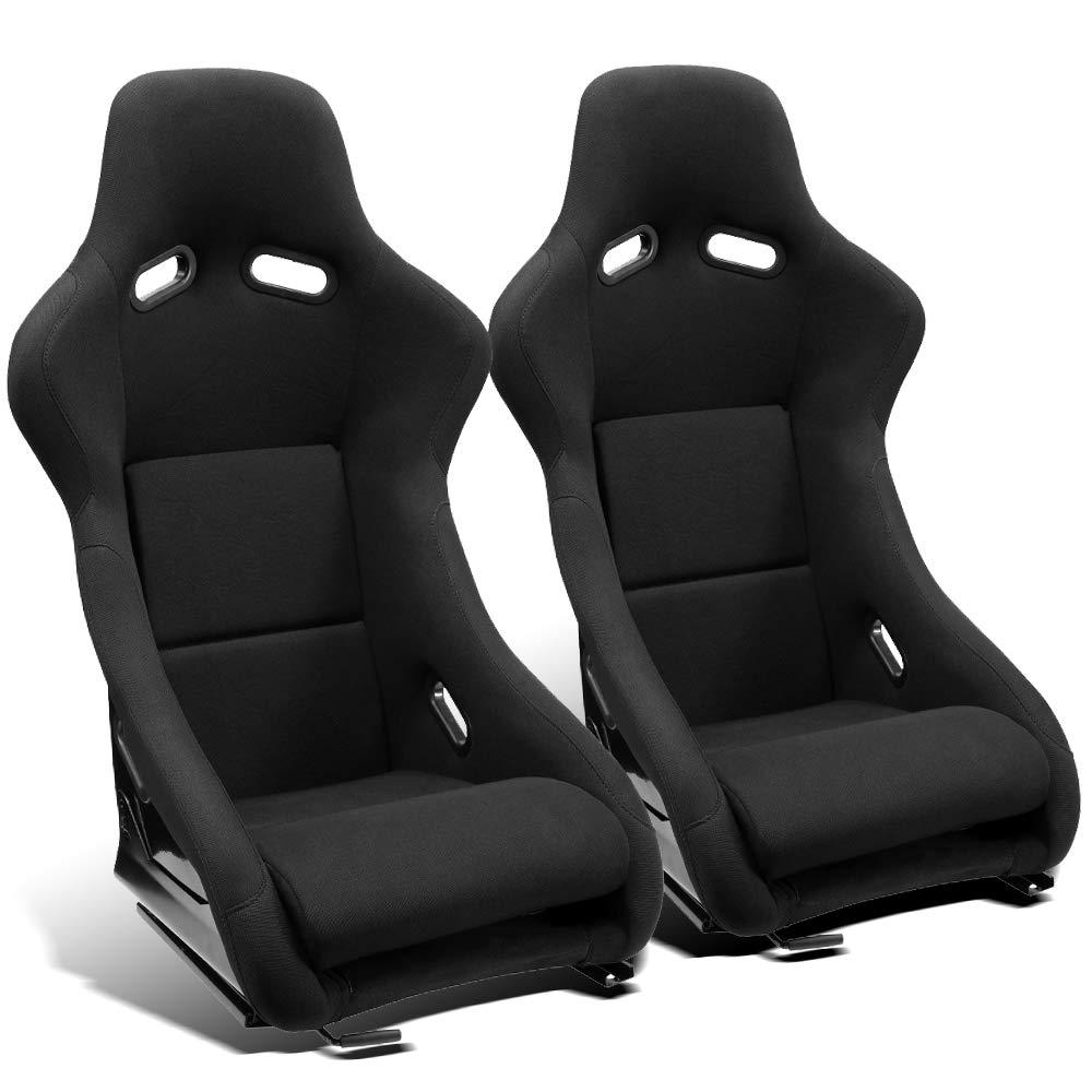 ModifyStreet 1 Pair Universal Blue Pineapple Seat Fabric Racing Bucket Seats