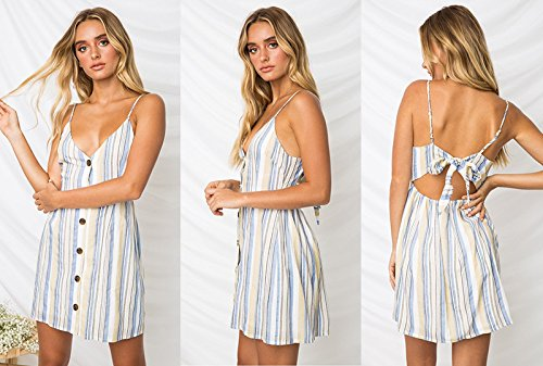Sexy Casual Beach Strap Dress Dress Women Summer for Ruiyue Long Button Summer 7 Floral Beach Print Boho xw0qw5YRz