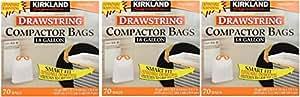 Kirkland Compactor Bags, 18 Gallon PcPWtq, 3Pack (70 ct)