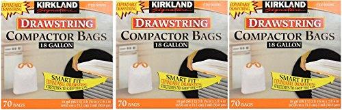 Kirkland Compactor Bags, 18 Gallon hwMEhg, 3Pack (70 ct) by Kirkland Signature