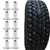 RingBuu 100 Pcs Wheel Tyre Spikes, Universal Snow Winter Car Bike Tire Flat Studs
