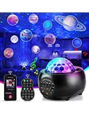 Perkisboby Star Projector Battery Version, Galaxy Projector with Remote Control/Bluetooth Music Speaker, 3000mAh Battery Up to 6H Working Time, Night Light Projector for Adults Kids Bedroom