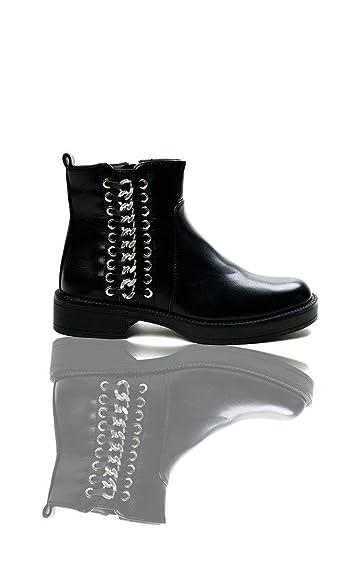 8cf1a28db4e Amazon.com | IKRUSH Womens Tina Chain Ankle Boots Black | Boots