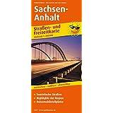 Sachsen-Anhalt: Straßen- und Freizeitkarte mit Touristischen Straßen, Highlights der Region und Reisemobilstellplätzen. 1:200000 (Straßen- und Freizeitkarte / StuF)