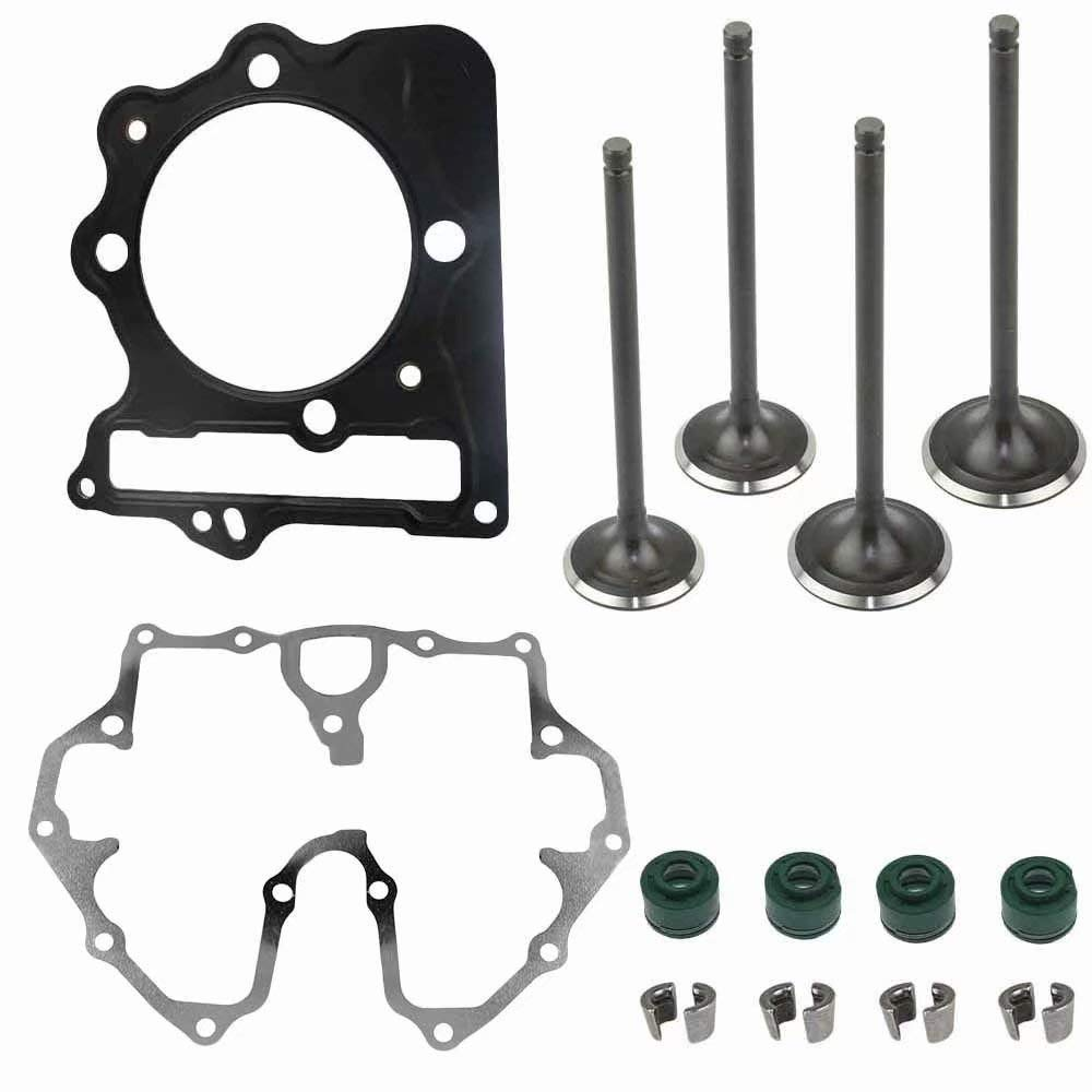 Jahyshow Cylinder Intake Exhaust Value Kit Fits HONDA TRX400EX SporTrax 400 2X4 1999-2008 Repalce 14711-KCY-670,14721-KCY-670 by Jahyshow