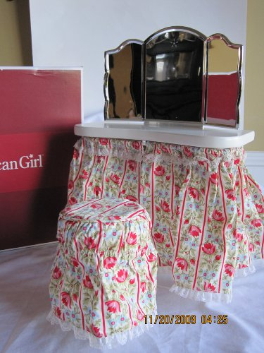 American Girl Molly's Vanity Table with Stool & Mirror