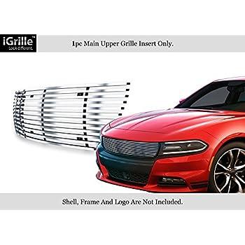 APS Fits 2015-2018 Dodge Charger Stainless Steel Black Billet Grille #D66344J