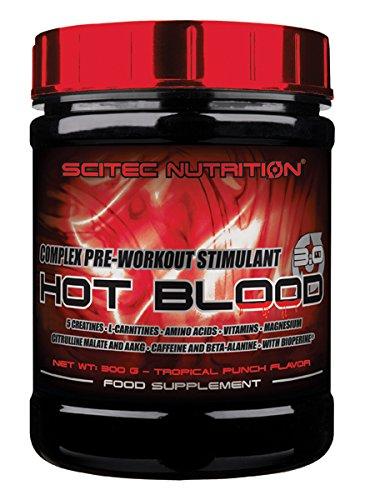 Scitec Nutrition Hot Blood 3.0 fórmula pre entrenamiento Ponche tropical 300 g: Amazon.es: Alimentación y bebidas