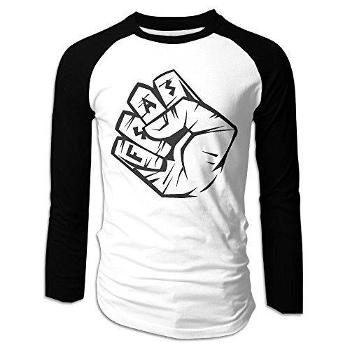 Men's Durablehip-hop Tri-Blend Long Baseball T Shirt Raglan Size S Color (Star Wars Pug Costumes)