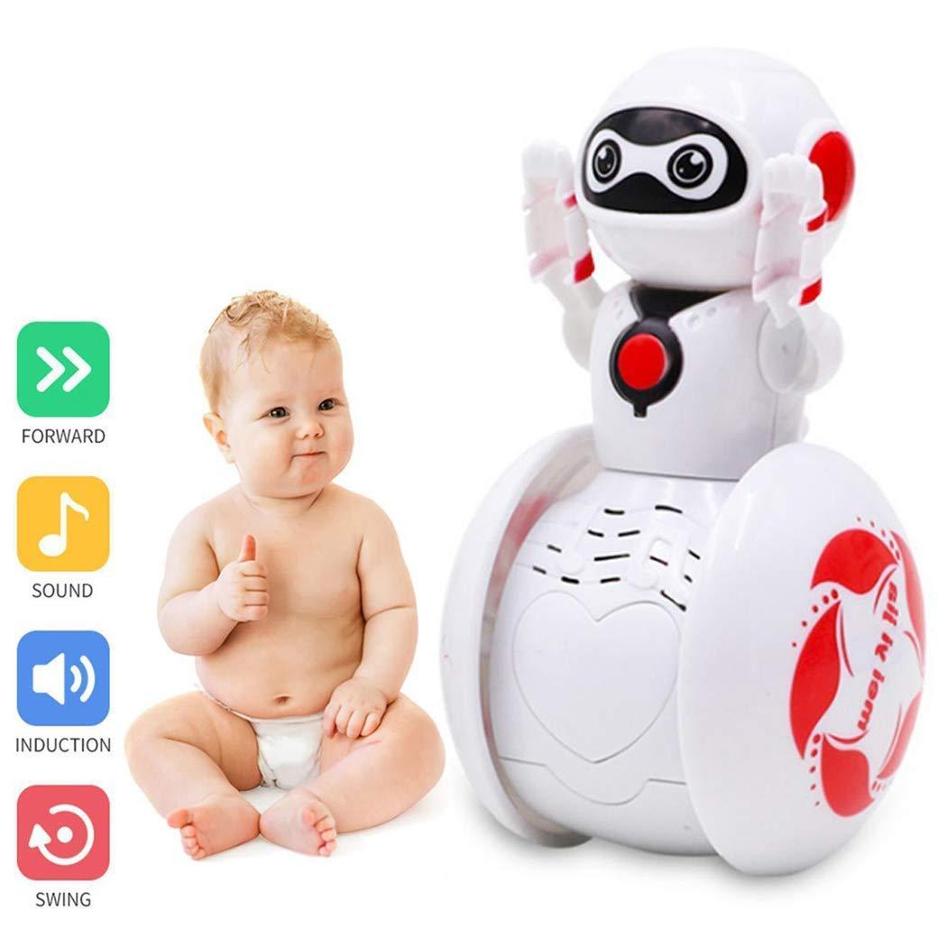 YENJOS Robot di Musica Rotante, Mini Tumbler Robot Cartoon Induzione Multifunzione Intelligent Music Robot Balancing Robotics