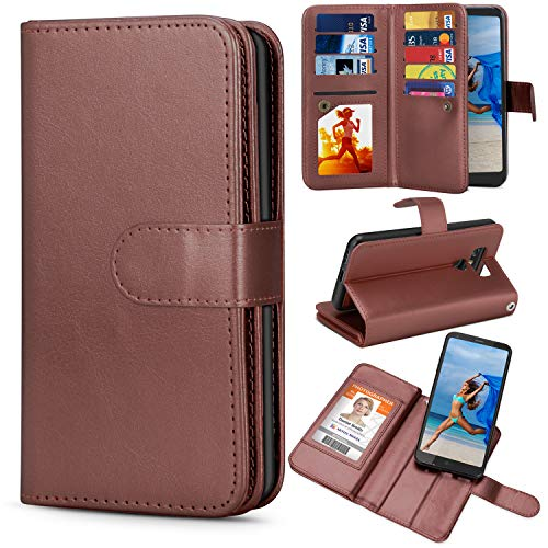 TILL for LG G6 Case, TILL LG G6 Wallet Case PU Leather Carrying Flip Cover [Cash Credit Card Slots Holder & Kickstand] Detachable Magnetic Folio Slim Protective Hard Case Shell for LG6 5.7INCH [Brown]