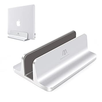 APPHOME Aluminio Vertical Macbook Soporte Portátil Soporte Soporte Ajustable para Ordenador Portátil Tablet Apple Macbook Pro