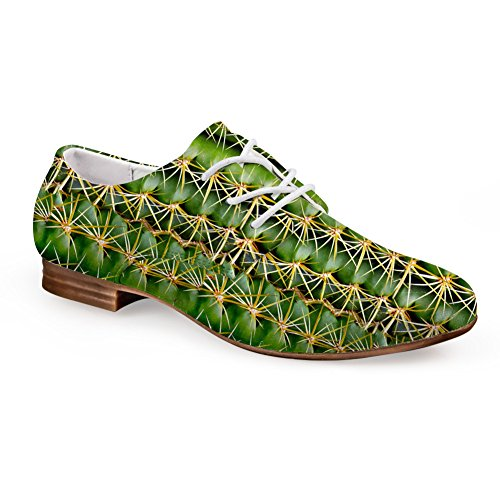 up 1 Flats green Flat Leather Fashion Green Oxford Lace Casual Shoes Print fgHWxPP