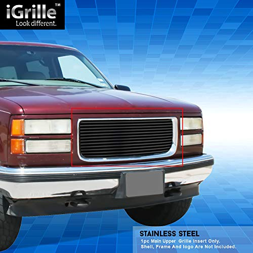 - Off Roader Black Stainless Steel eGrille Billet Grille Grill for 94-99 GMC Sierra Pickup/Suburban/Yukon