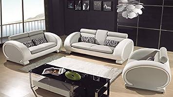 Wohnzimmergarnitur Leder design wohnzimmergarnitur leder sofa 3 sitzer 2 sitzer sessel