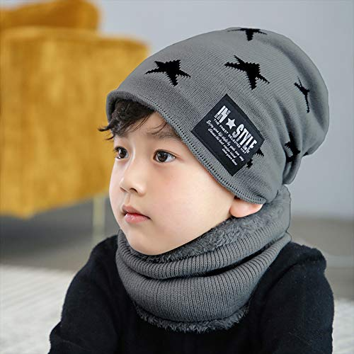 91d606b3c31 Image Unavailable. Image not available for. Color  Baby Beanie Hat Scarf  Set Winter Warm Thick Infant Toddler Knitted Hat Cap ...