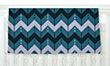 KESS InHouse Nick Atkinson ''Chevron Dance Blue'' Fleece Baby Blanket, 40'' x 30''