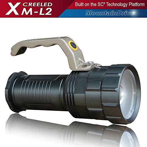 Powerful Floodlight Streamlight Rechargeable Spotlight Bright Led Searchlight XM-L2 CREE Powerful Led Flashlight Handheld light Rechargeable Led Spotlight Torch Light Strobe flashlight Rechargeable