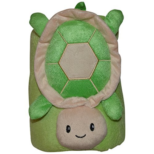 Jack and Friends Cuddly Animal Baby and Kids Plush Blanket (Turtle)