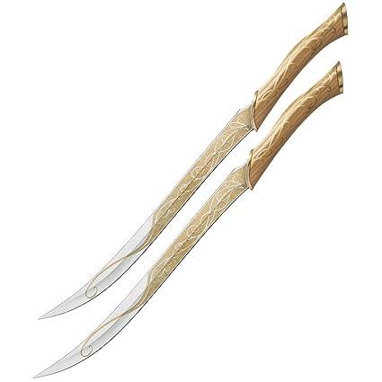 El Hobbit Réplica 1/1 Cuchillos de cazador de Legolas ...