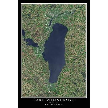 Amazon.com: Lake Winnebago & Oshkosh Wisconsin Satellite ... on satellite maps of maine, satellite maps of california, satellite maps of united states, satellite maps of alabama, satellite maps of wisconsin, satellite maps of new york, satellite maps of hawaii,