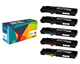 Do it Wiser Compatible Extra High Yield Toner Cartridges for Xerox Phaser 6600 WorkCentre 6605 - 5 Pack