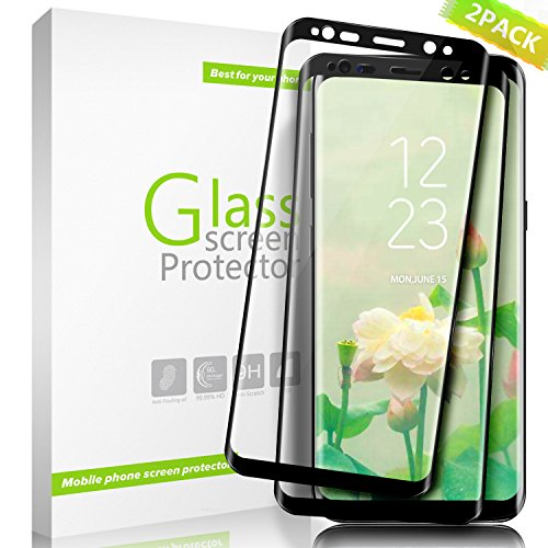 Galaxy S8 Screen Protector, Full Screen Coverage Scratch Resistant Ultra HD Clear Tempered Glass Screen Protector for Galaxy S8