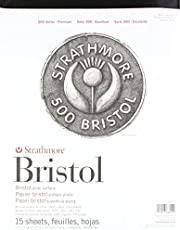 """Strathmore (580-72 500 Series Bristol, 2-Ply Plate Surface, 11""""x14"""", 15 Sheets"""