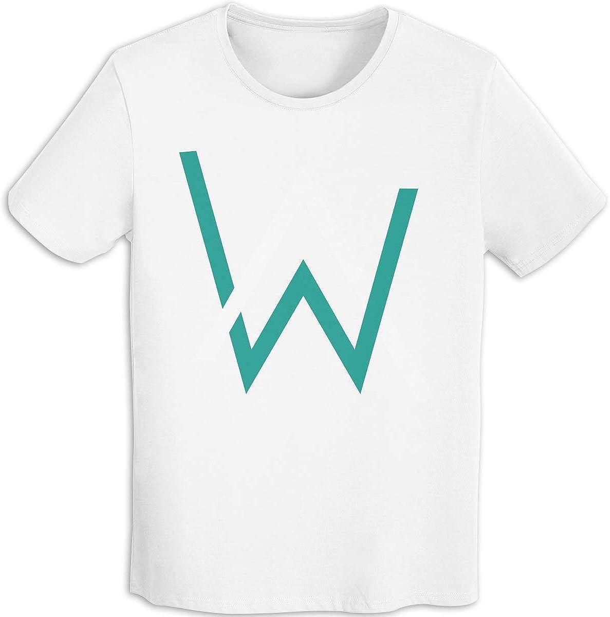Camiseta clásica para Hombre con Logo de Alan Walker, Manga Corta, para Hombre, Color Blanco Blanco Blanco S: Amazon.es: Ropa y accesorios