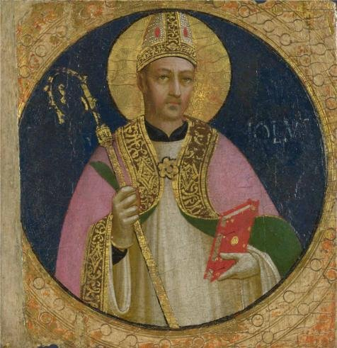 The Perfect Effect Canvas Of Oil Painting 'Fra Angelico - Saint Romulus1,about 1423-4' ,size: 10x10 Inch / 25x26 Cm ,this Reproductions Art Decorative Prints On Canvas Is Fit For Nursery Gallery Art And Home Decoration And Gifts
