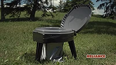 Camping Potty Seat for Adults & Kids in Tent. Foldable Commode Portable Toilet Bucket Chair for Pop-up Camper. Perfect to Use With Bags While Your Hiking, Fishing, Hunting. Weight capacity 300 lbs