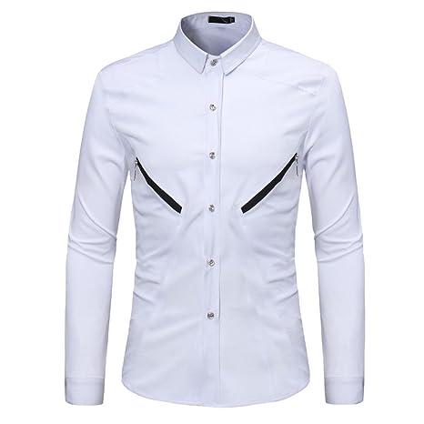 Camisa manga larga para hombre moda fashion 2018,Sonnena ❤ Camisas para hombres Slim