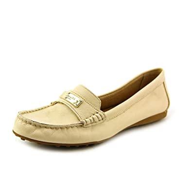 257165bd396 Coach Womens Fredrica Pebbled Leather Loafers  6   Milk White