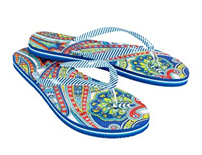Vera Bradley Flip Flops in Marina Paisley VB 12697-141 S