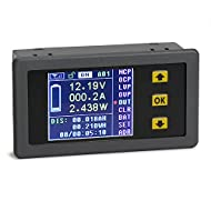 DROK DC 0-120V 0-100A Digital Multimeter Charge-Discharge Battery Tester, Volt Meter/Ammeter/Watt Meter/Time/Capacity/Electricity Usage Monitor, LCD Color Screen with Overvoltage Protection