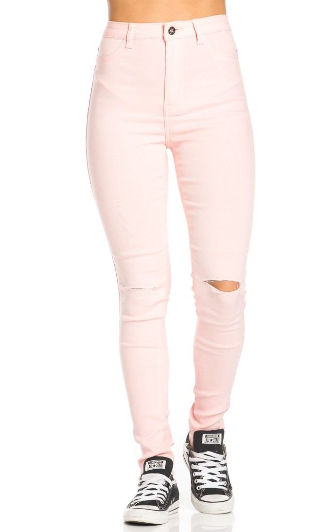 SOHO GLAM Super High Waisted Stretchy Skinny Jeans in 10 Colors (S-XXXL) Sohogirl.com AMZHIGHJEANS