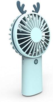 ROIY Mini Ventiladores Funciona con Pilas Cargador del Ventilador ...