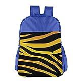 Tiger Skin Line Kids Backpack For Boys Girls Fit School Backpack