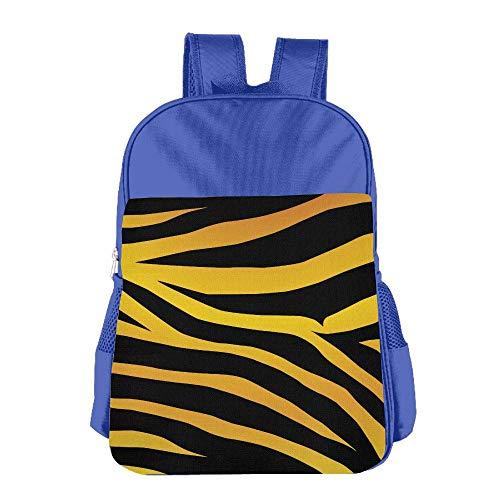 Tiger Skin Line Kids Backpack For Boys Girls Fit School Backpack by BINGZHAO
